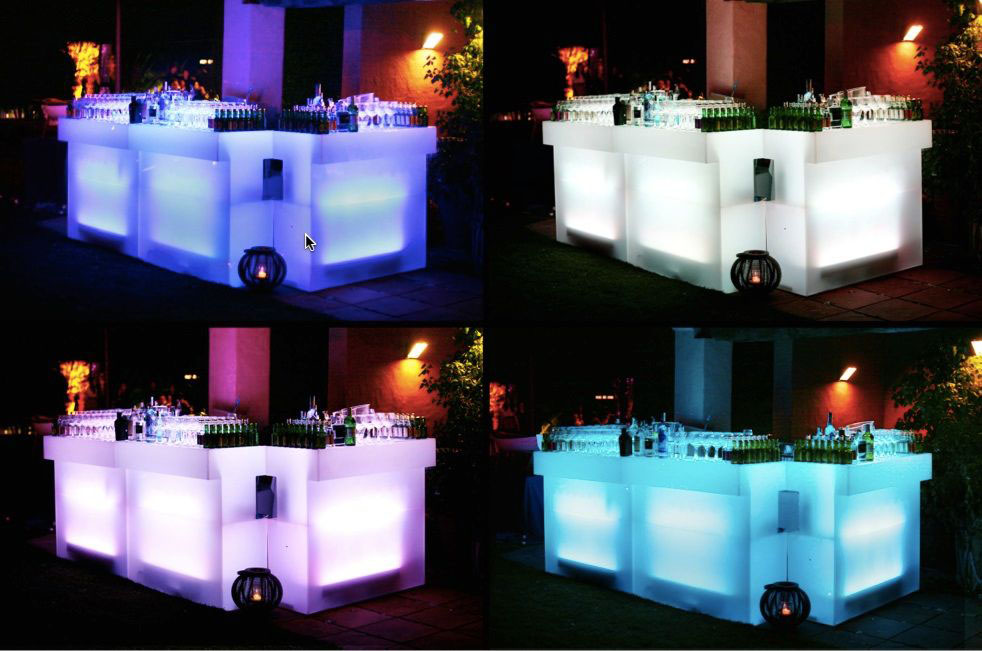 Nuovi piatti barra bar led - Barra de bar para salon ...
